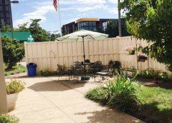 Rose Tower Garden Patio